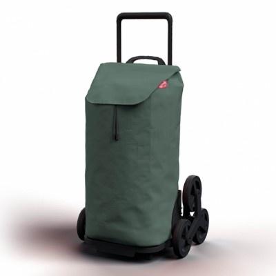 Nákupní taška na kolečkách Tris Floral zelená