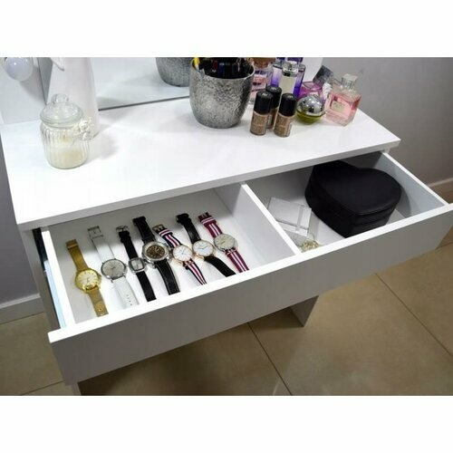 Toaletní kosmetický stolek Kamila s taburetem 80x40x140cm