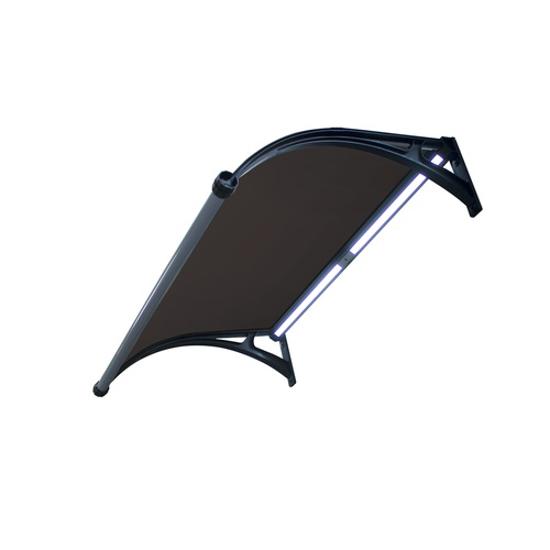 ALDOTRADE Dveřní vchodová stříška 100x150cm s LED osvětlením