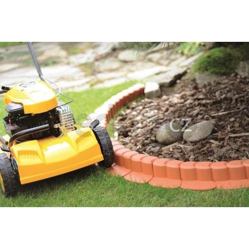 Zahradní palisáda obrubník Happy Grass - 3,1m terakota