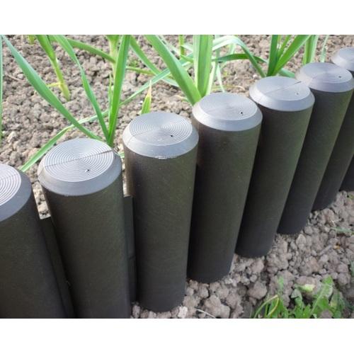 ALDOTRADE Zahradní plastová palisáda lem trávníku Maxi 2m
