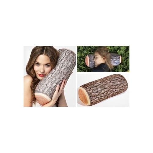 ALDOTRADE designový polštář - dřevěné poleno