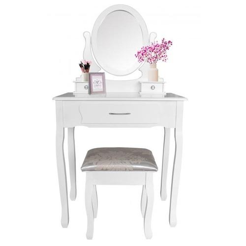 ALDOTRADE Toaletní kosmetický stolek Sofia 73x40x132cm s taburetem