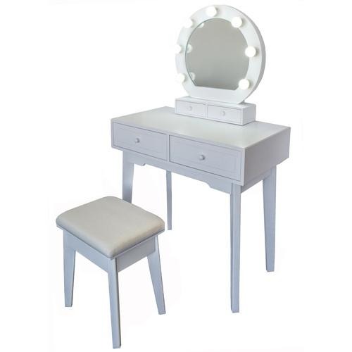 Kosmetický stolek Vanessa 75x40x130 cm se zrcadlem