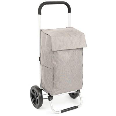 ALDOTRADE nákupní taška na kolečkách VIENA šedá