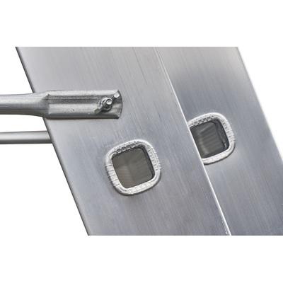 ALDOTRADE Hliníkový žebřík 3x14 příček PROFI třídílný